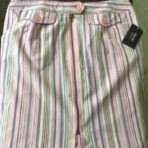 Nicole by Nicole Miller Dresses & Skirts - Nicole by Nicole Miller Pink Stripe skirt NWT